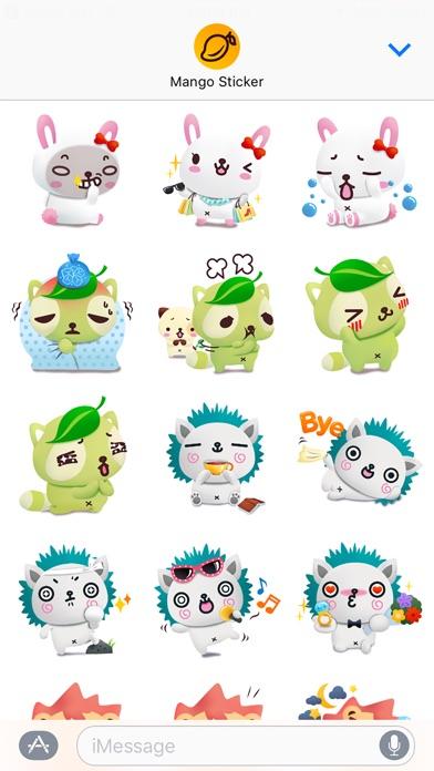 パンダドッグ & フレンズ 3D (Pandadog) - Mango Stickerのスクリーンショット2