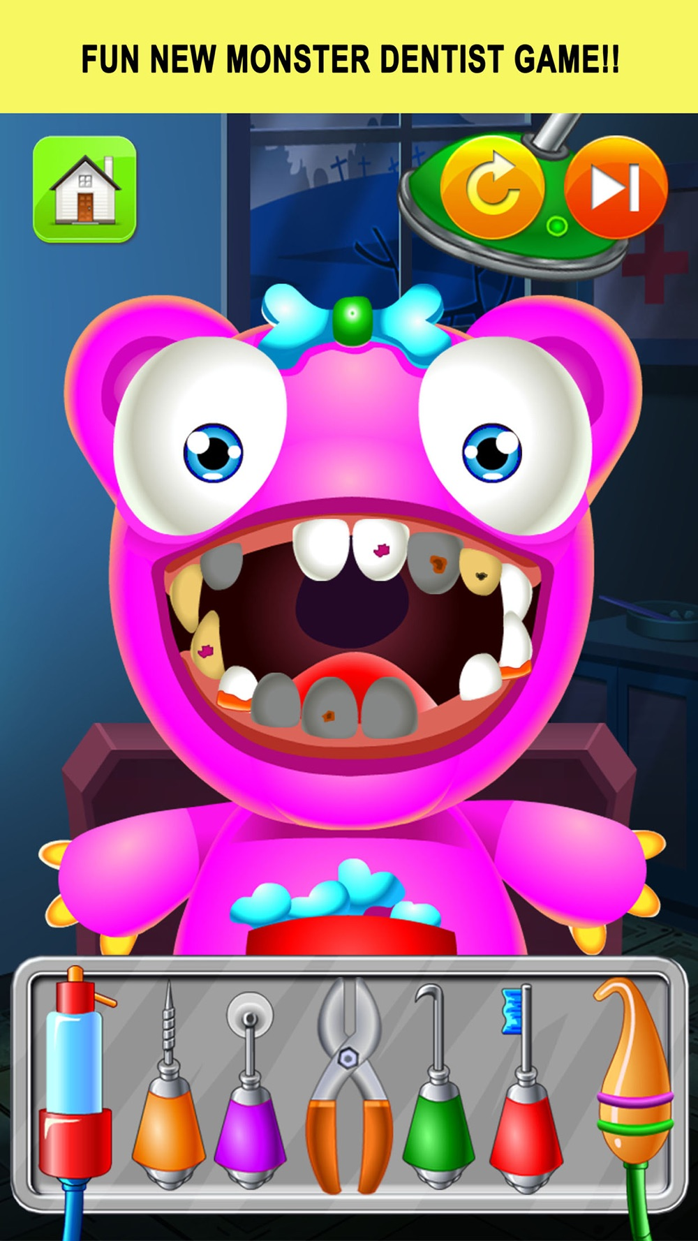 Monster Dentist Doctor Shave – Kid Games Free Cheat Codes