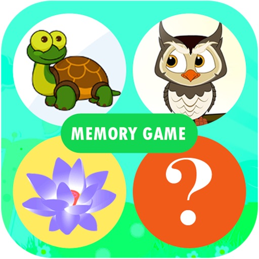 Memory Game for kids - Fun to learn animals,vegetables,fruits,flowers,shapes