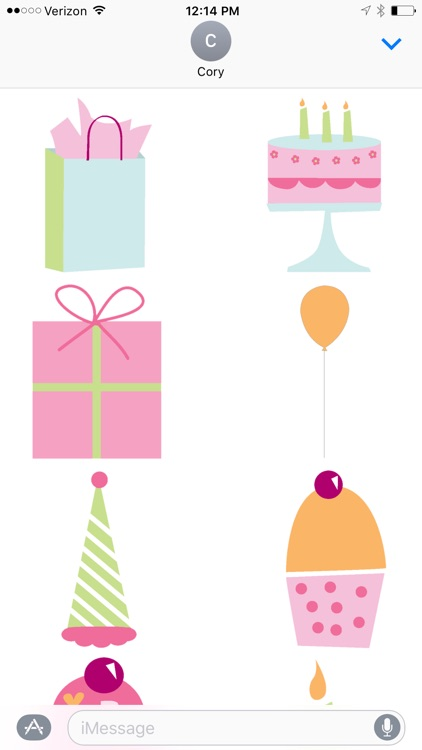 Birthday Design Sticker Pack screenshot-0