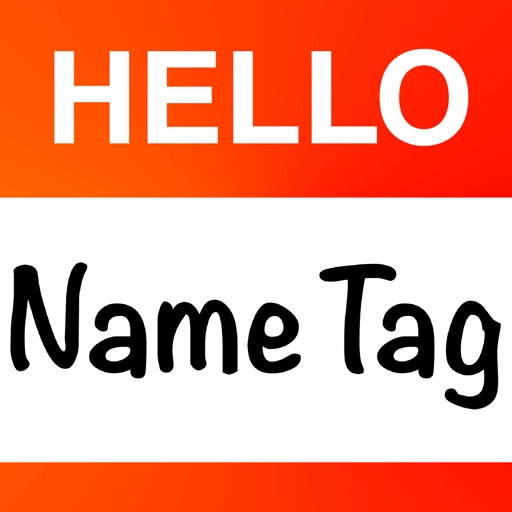 Hello Name Tag - handy Hello My Name Is nametag ID