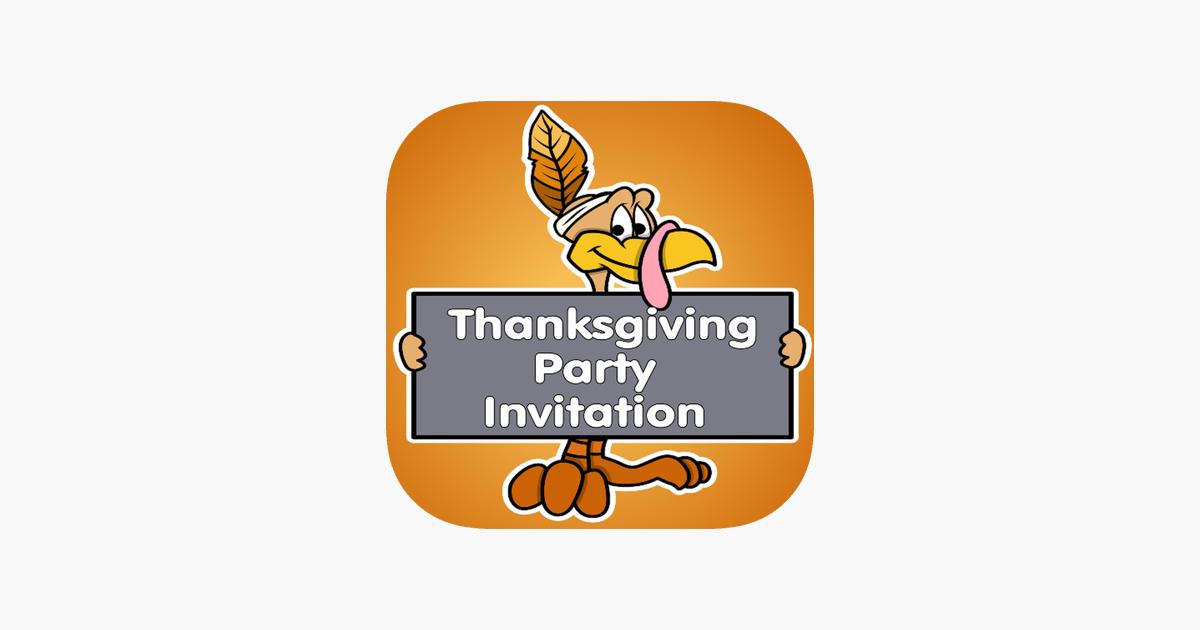 thanksgiving invitation cards maker をapp storeで