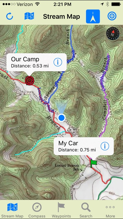 Stream Map USA - Mountain South