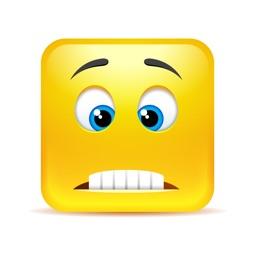 Yellow Square Smiley Emoji Stickers