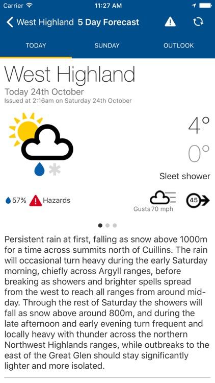 Mountain Weather UK