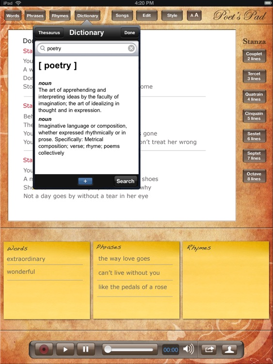 Poet's Pad™ for iPad screenshot-3