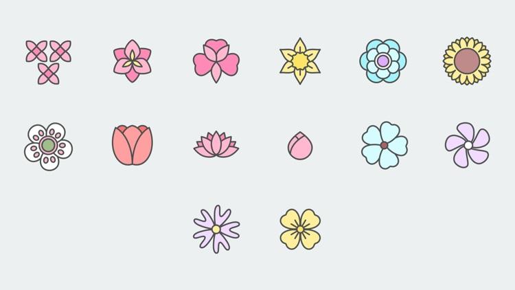 Xinh Flowers Pastel