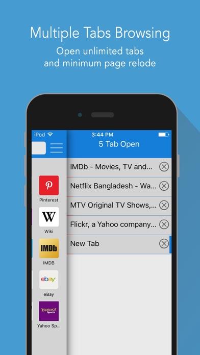速いインターネットブラウザ - インコグニート ブラウジング ために 高速ウェブ検索のスクリーンショット5
