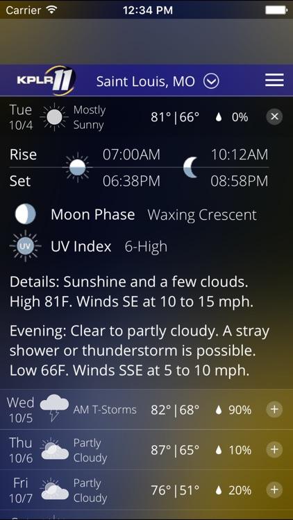 KPLR News 11 St Louis Weather screenshot-4