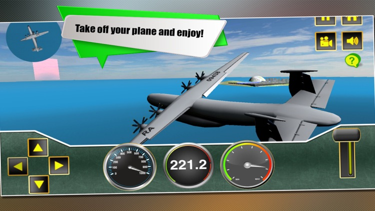 Real Airport Flight Airplane Sim 3D Simulator screenshot-4
