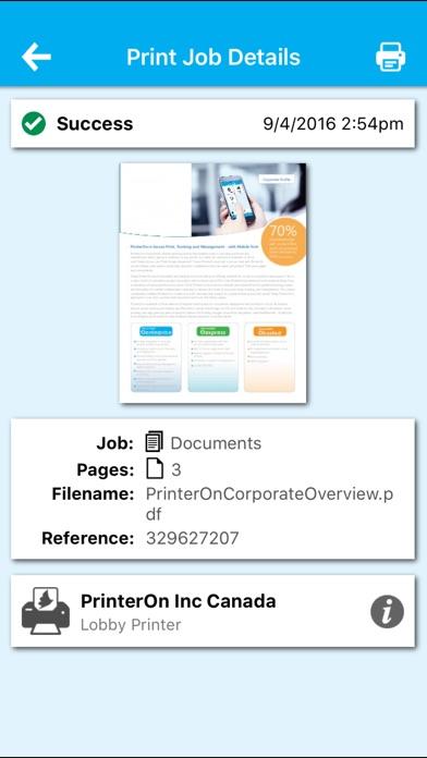 PrinterOn for AirWatch Скриншоты7