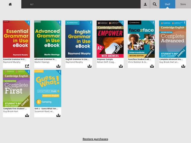 The cambridge bookshelf na app store the cambridge bookshelf na app store fandeluxe Image collections