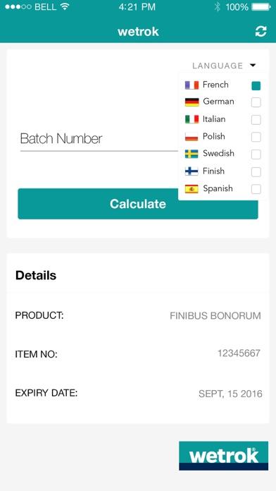 Wetrok Expiry Date Calculator screenshot four