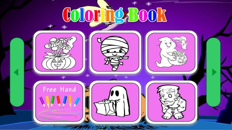 Preschool Halloween Coloring page screenshot-3