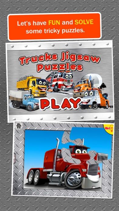 Trucks Jigsaw Puzzles: Kids Trucks Cartoon Puzzles