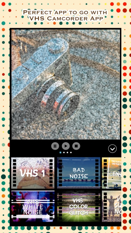 VCR Camcorder - Add Retro Camera and VHS Camcorder Effect to Video for Instagram