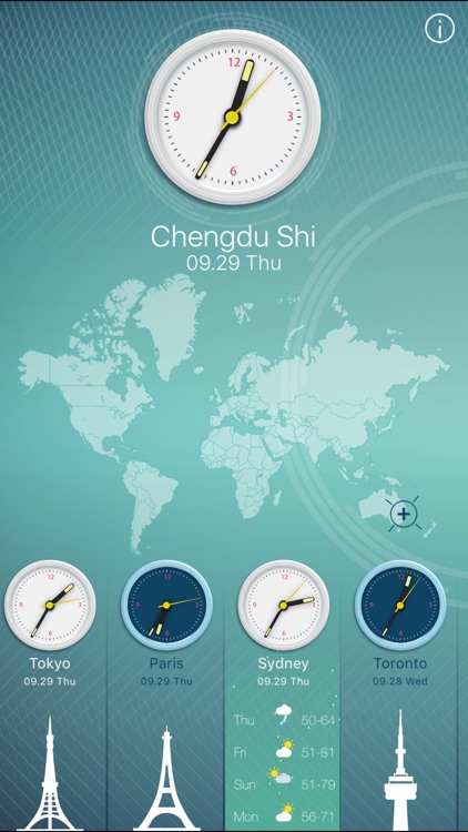 World Clock HD for iPad and iPhone by feng min
