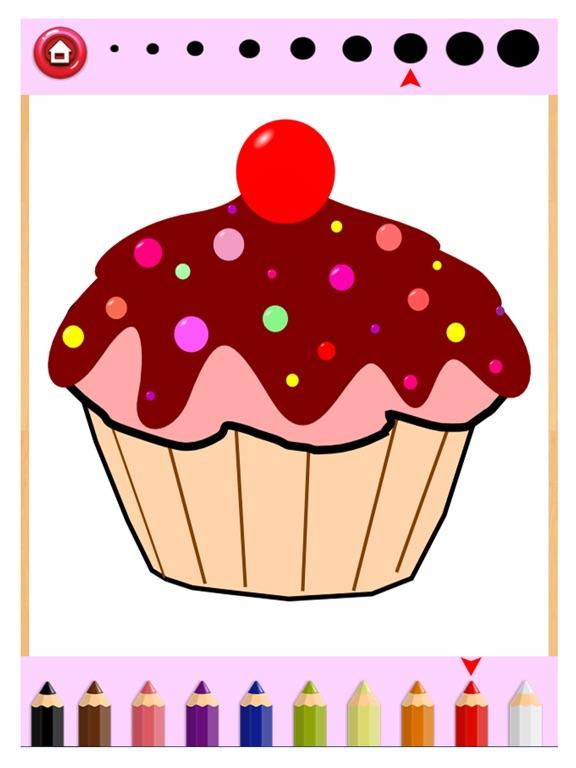 Cupcake Coloring Book - Draw Paint Kids Game   App Price Drops