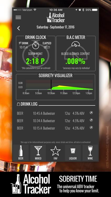 Digital Alcohol Tracker - Your Pocket BAC Meter screenshot-3