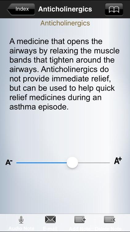 Asthma Glossary