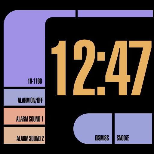 LCARS Alarm Clock by CedeSoft
