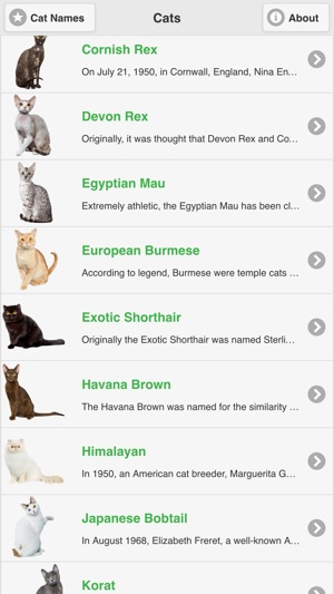Cat Breeds Free on the App Store