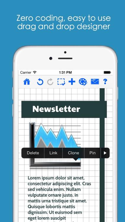 HTML Mailer - email and newsletter designer screenshot-3