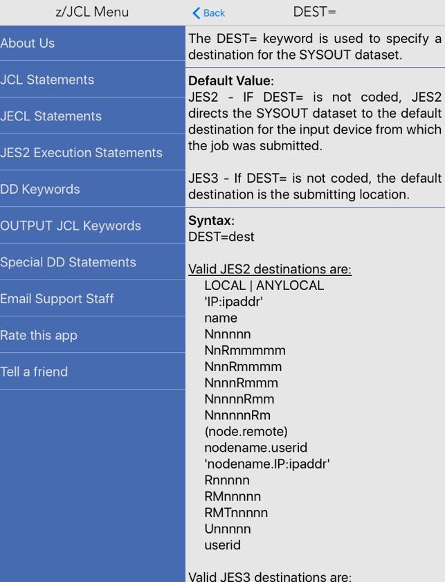 z jcl on the app store rh itunes apple com jcl reference guide pdf JCL Seats