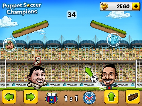 ... Screenshot  2 for Puppet Soccer Champions - Football League of the big  head Marionette stars ... 9b075dc4769fa