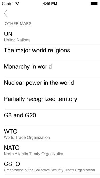 World. Political map screenshot-3