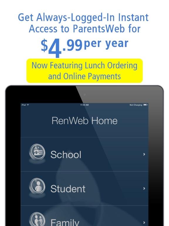 RenWeb Home iPad