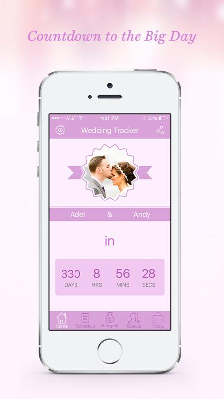 Wedding Tracker - Wedding Countdown and Todo List - Online