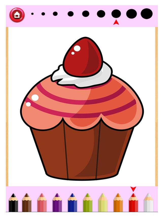 Kuchen Malbuch Zeichnen Malen Fur Kinder Spiel Im App Store