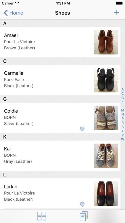 myShoeCache: Shoe Organizer
