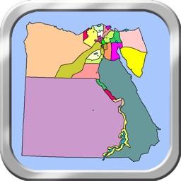Egypt Puzzle Map
