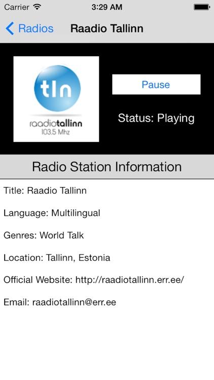 Estonia Radio Live Player (Eesti Raadio/Estonian) screenshot-3