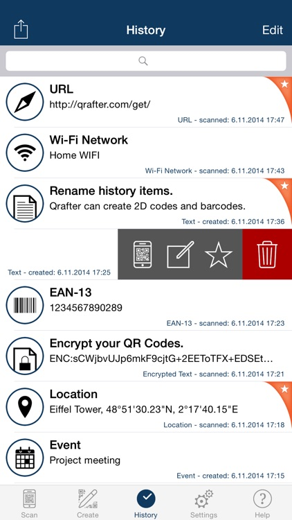 Qrafter - QR Code Reader and Generator screenshot-3