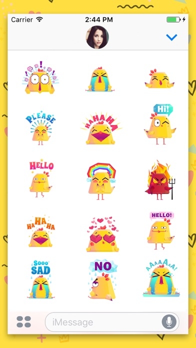 Chicken Emoji Animated Sticker screenshot three