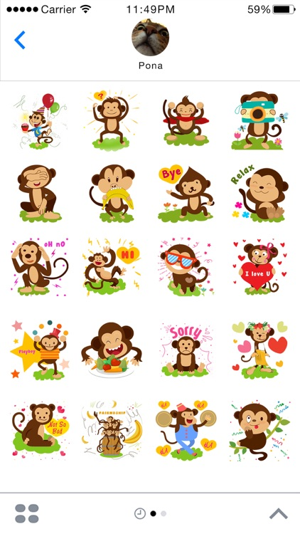 Monkey Emoji - Monkey Stickers for iMessage