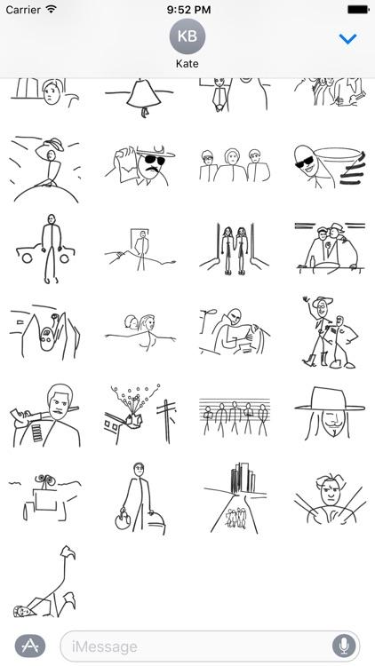 Stick Figure Movie - Stickers