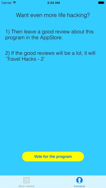 Travel Hacks screenshot-4