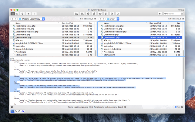 yummy ftp pro on the mac app store
