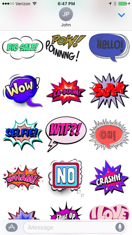 Comic Talks Stickers for iMessages screenshot-3