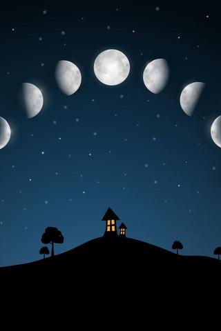 Sky and Moon phases calendar screenshot 1