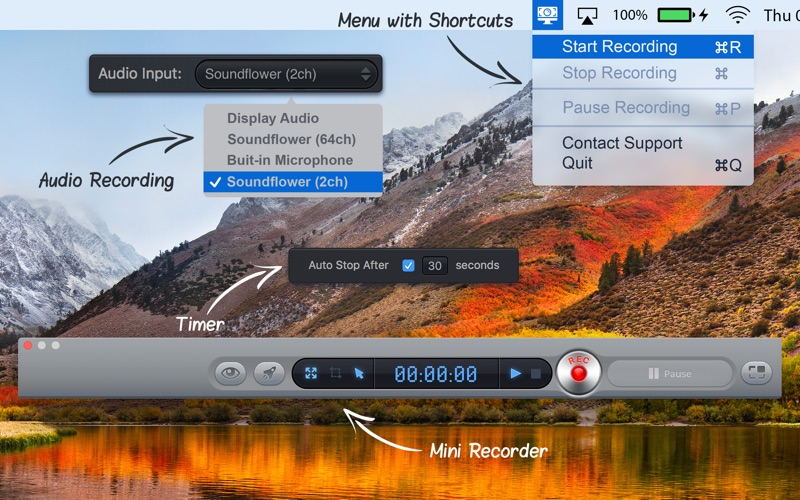 Screen Recorder HD Pro Screenshots