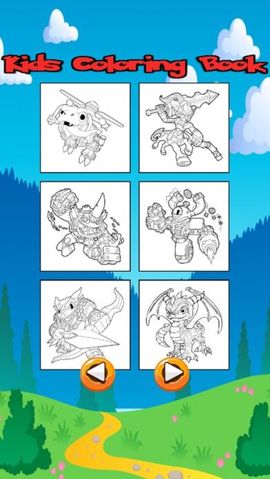 Personajes de dibujos animados para colorear Libro App Revisión ...