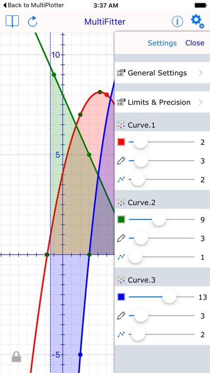 Multi Fit Graph Calculator screenshot-3