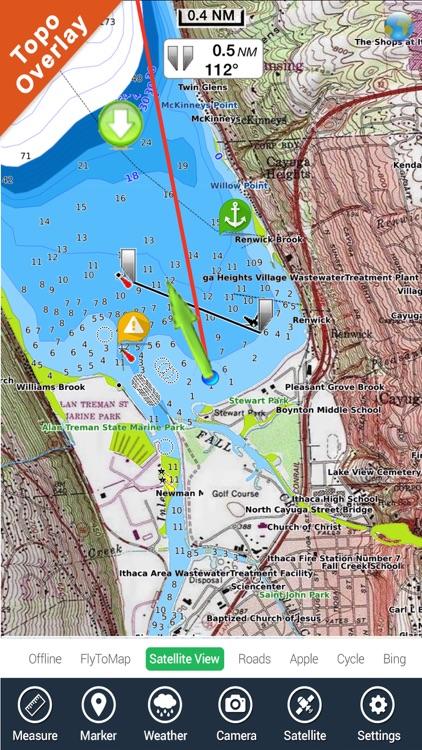 Lake Macbride IOWA HD GPS fishing chart offline