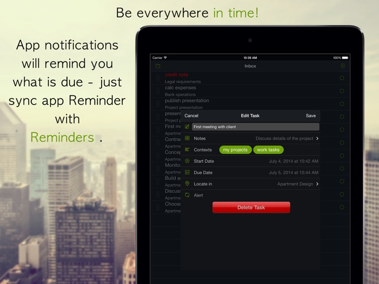 GTD Manager for iPad screenshot-3