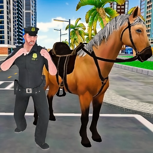 Mounted Police Horse Chase